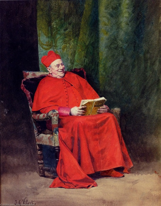 Жан Жорж Вибер. Чтение Рабле.