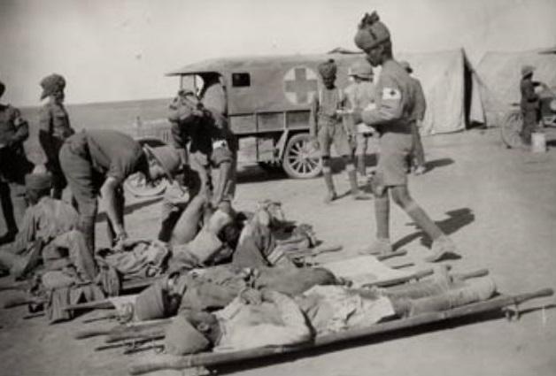 Раненые индийские солдаты, 1947 год.