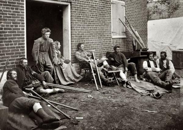 Солдаты, получившие ранения во время Гражданской войны в&nbsp;США. <br>