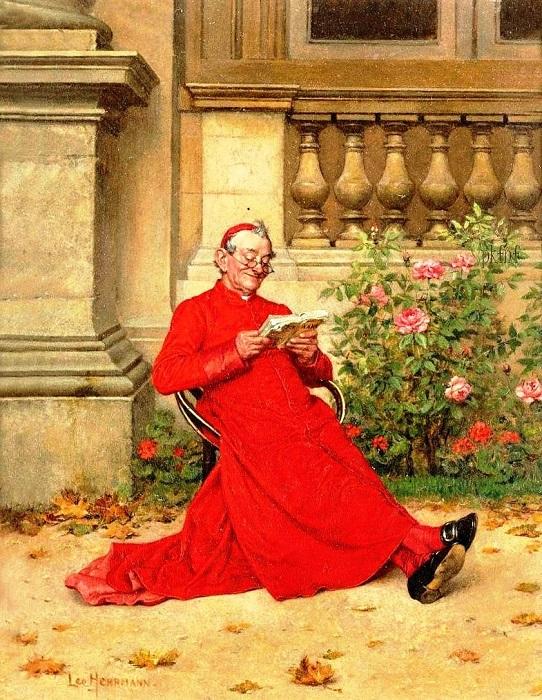 Лео Херрманн. Кардинал, читающий роман «Нана» Золя.