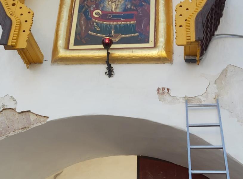 В Псково-Печерском монастыре раскрыта историческая надпись