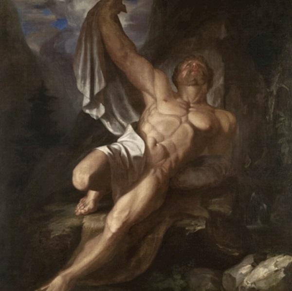 Картина Морзе «Умирающий Геркулес».