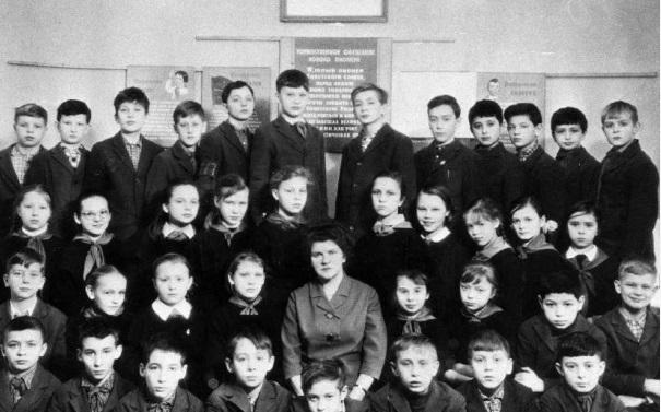 Путин в школе.