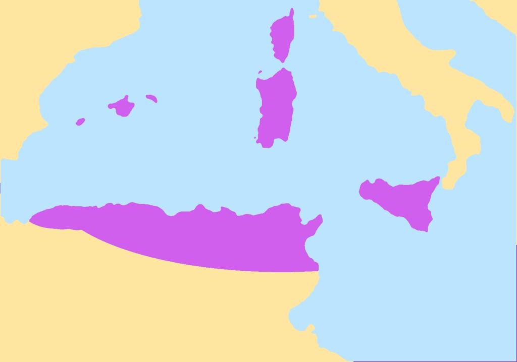 Королевство вандалов в 470-е гг.