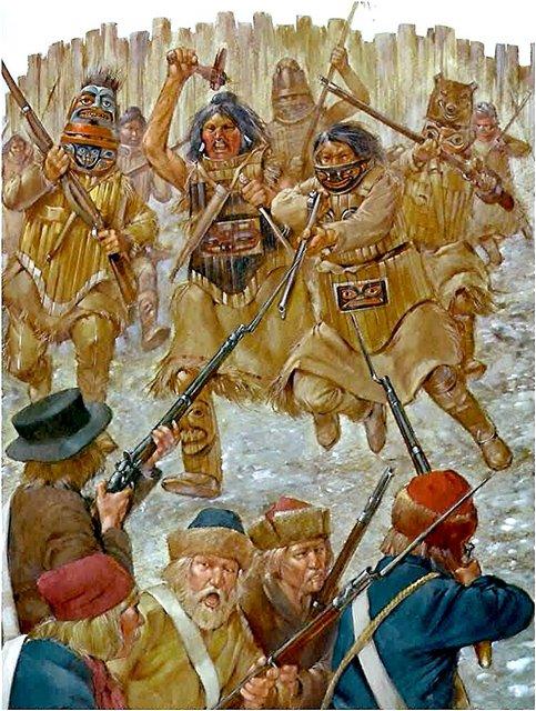 Индейцы в бою.
