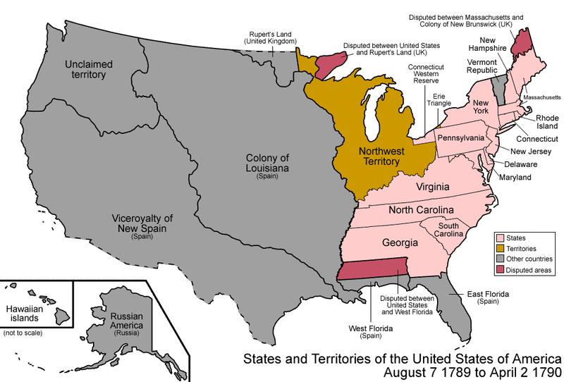США в 1789г.