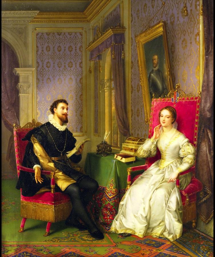 Феличе Скьявони. Торквато Тассо и Леонора д'Эсте 1839.
