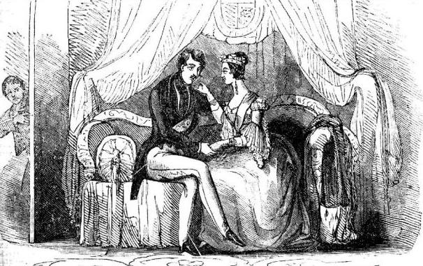 Мальчик подглядывает за Викторией иАльбертом. <br>