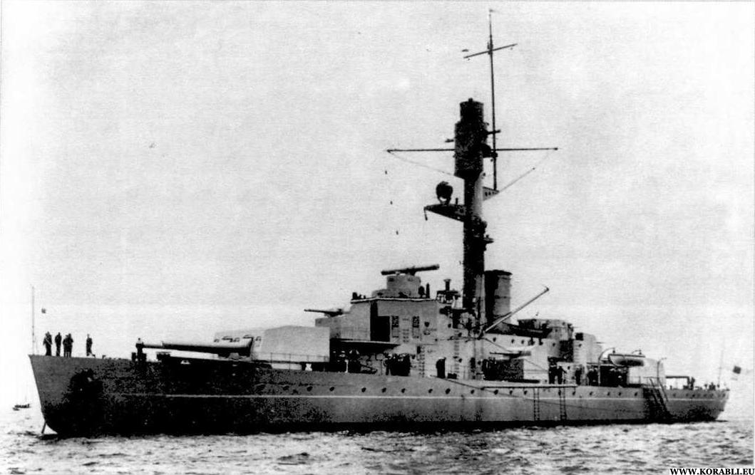 Броненосец береговой обороны «Ильмаринен». <br>