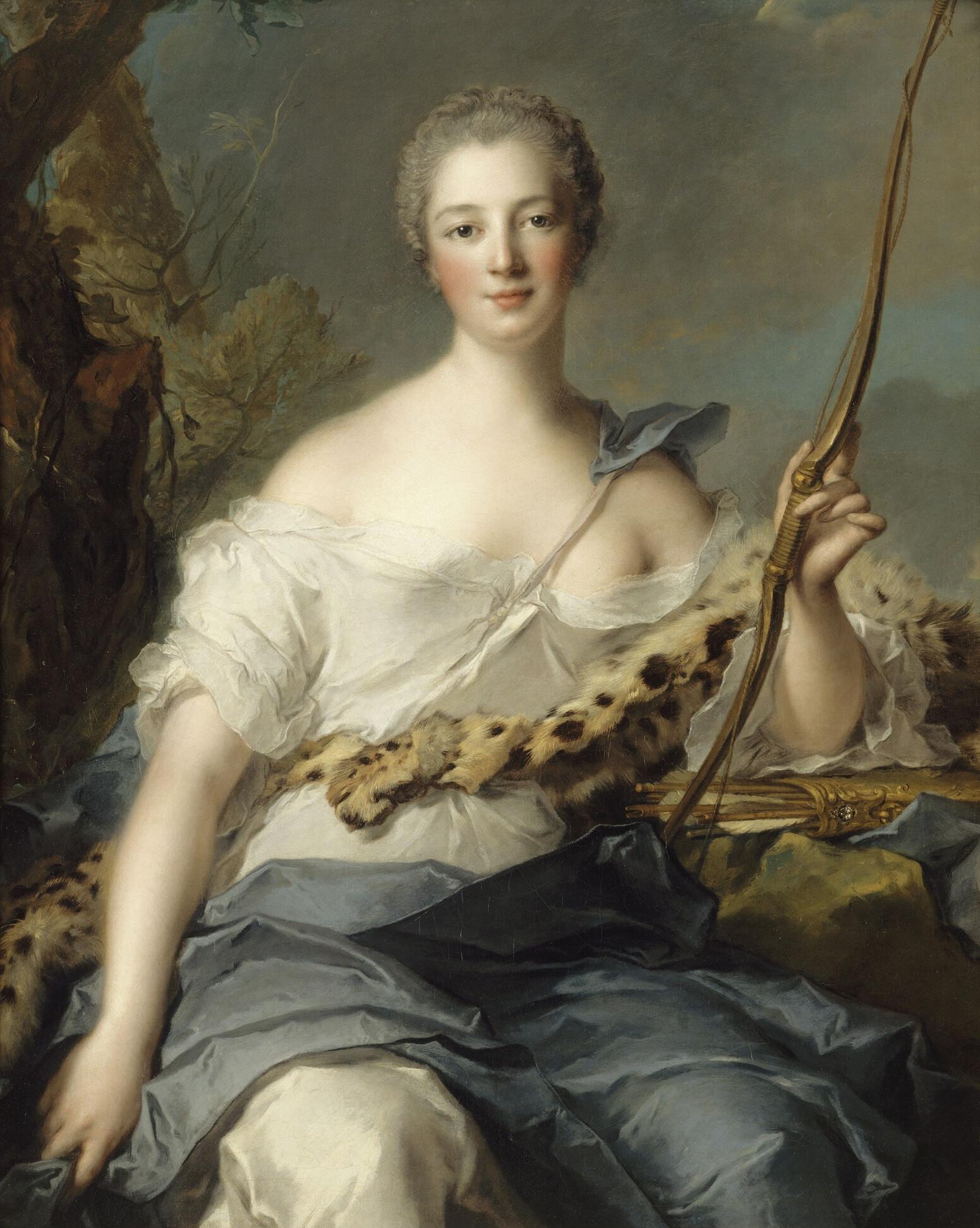 Маркиза де Помпадур вобразе Дианы. <br>