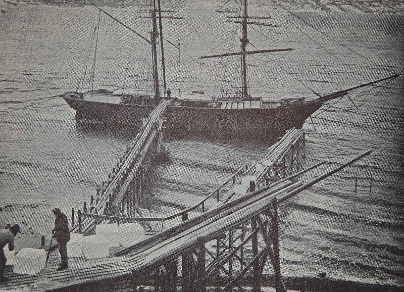 Загрузка льда, Норвегия, конец 19 века.