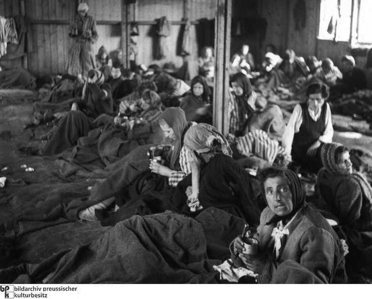 InderKrankenbarackewartenkrankeFrauennachderBefreiungdesKonzentrationslagersBergen-Belsen1945aufarztlicheVersorgung..jpg
