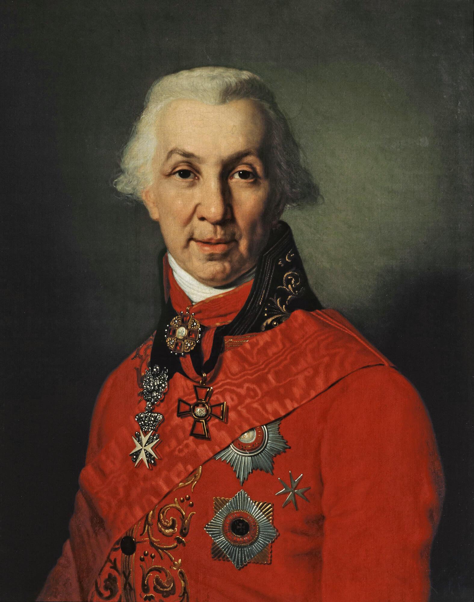 Портрет Гавриила Державина кисти В. Боровиковского, 1811.
