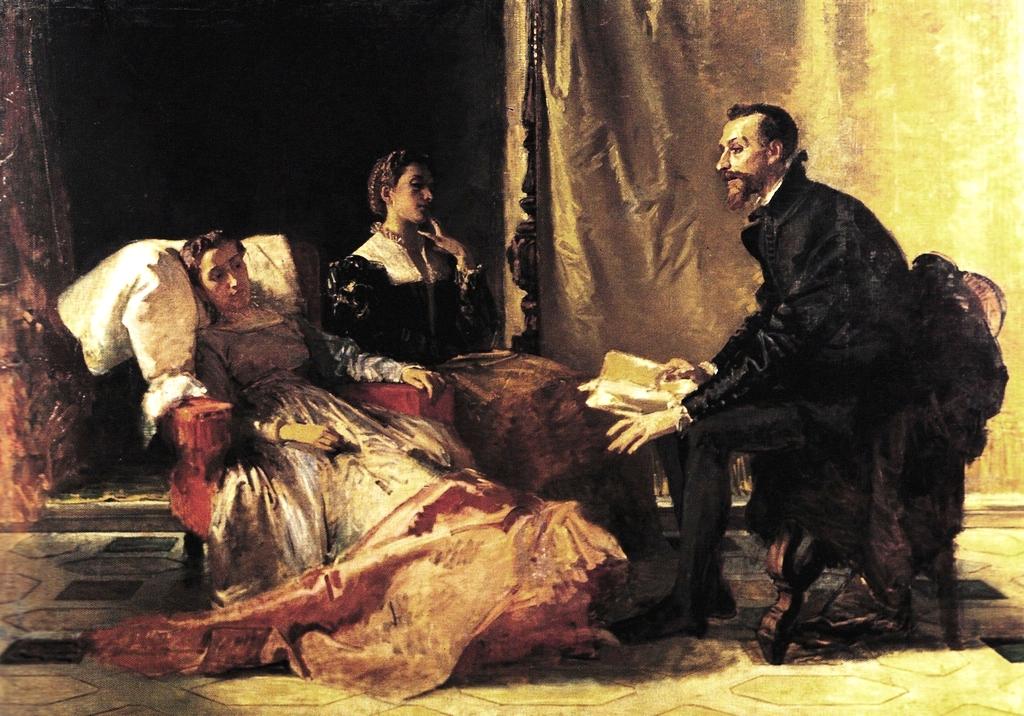 Доменико Морелли. Тассо читает поэму двум Леонорам, 1865.