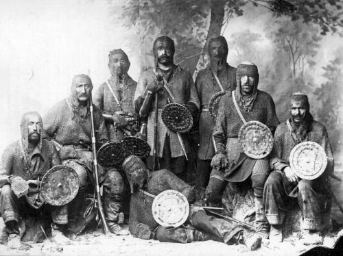Group portrait of Khevsur clansmen Georgia 1890-1900s. Photo by Dmitry Yermakov..jpg