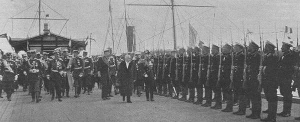 Союзнический парад в Кронштадте, 1902 год.