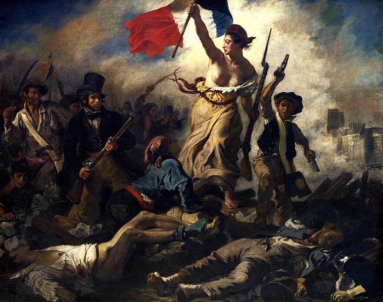 «Свобода, ведущая народ».