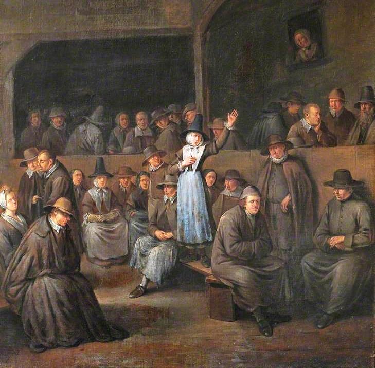 Квакерское собрание. Худ. Э. Хемскерк, XVII в.