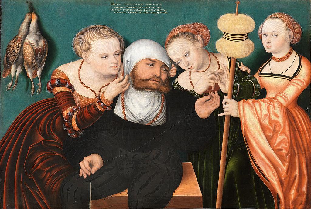 34 Ганс Кранах Геркулес у Омфалы. 1537 .jpg