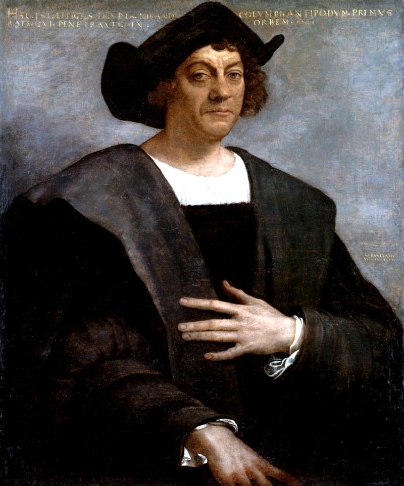 Христофор Колумб. Посмертный портрет кисти Себастьяно дель Пьомбо, 1519 год.PNG