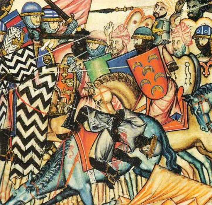 Битва христиан с маврами.