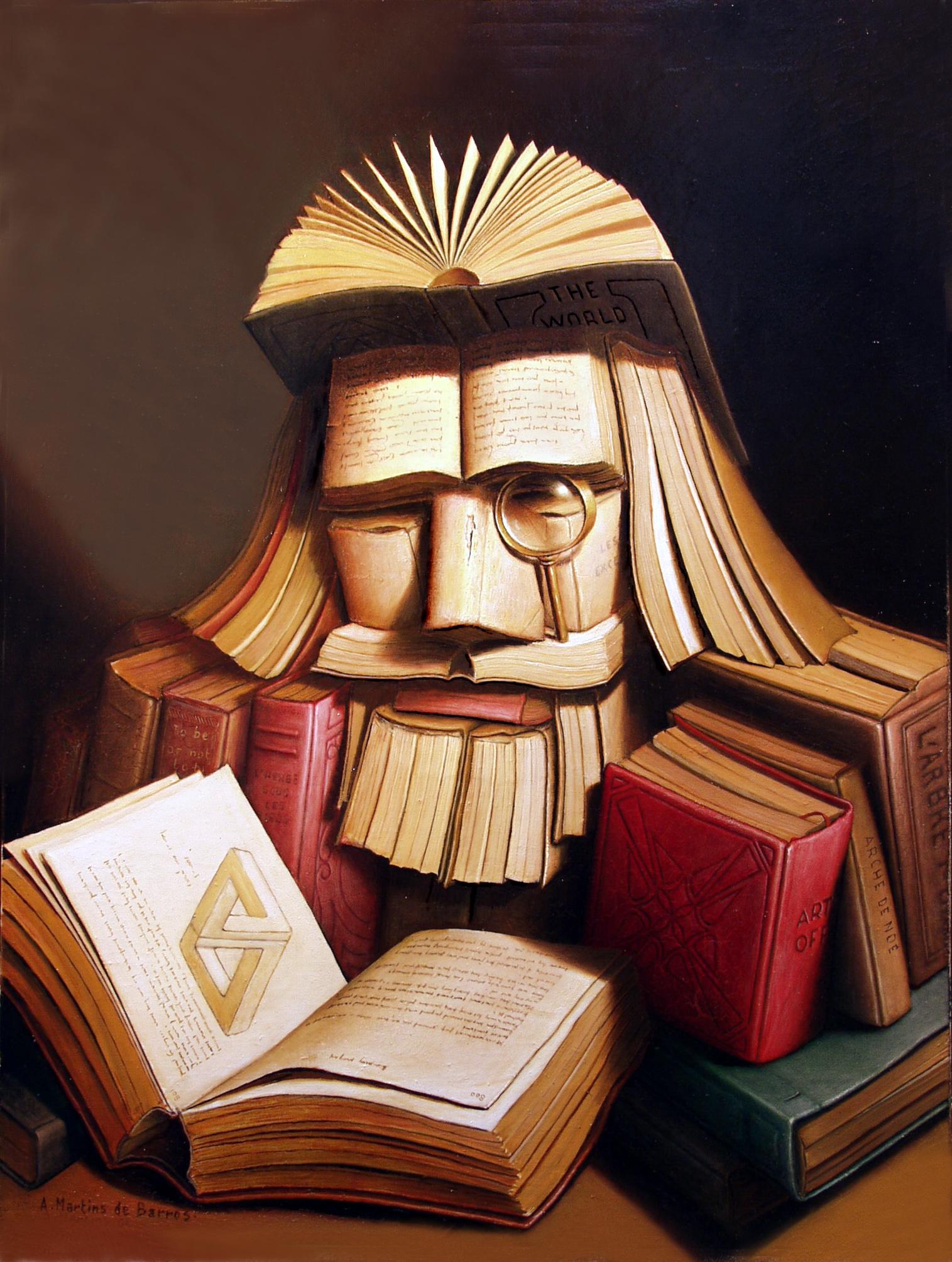 Андрэ де Барро «Книготорговец», конец 20 в.