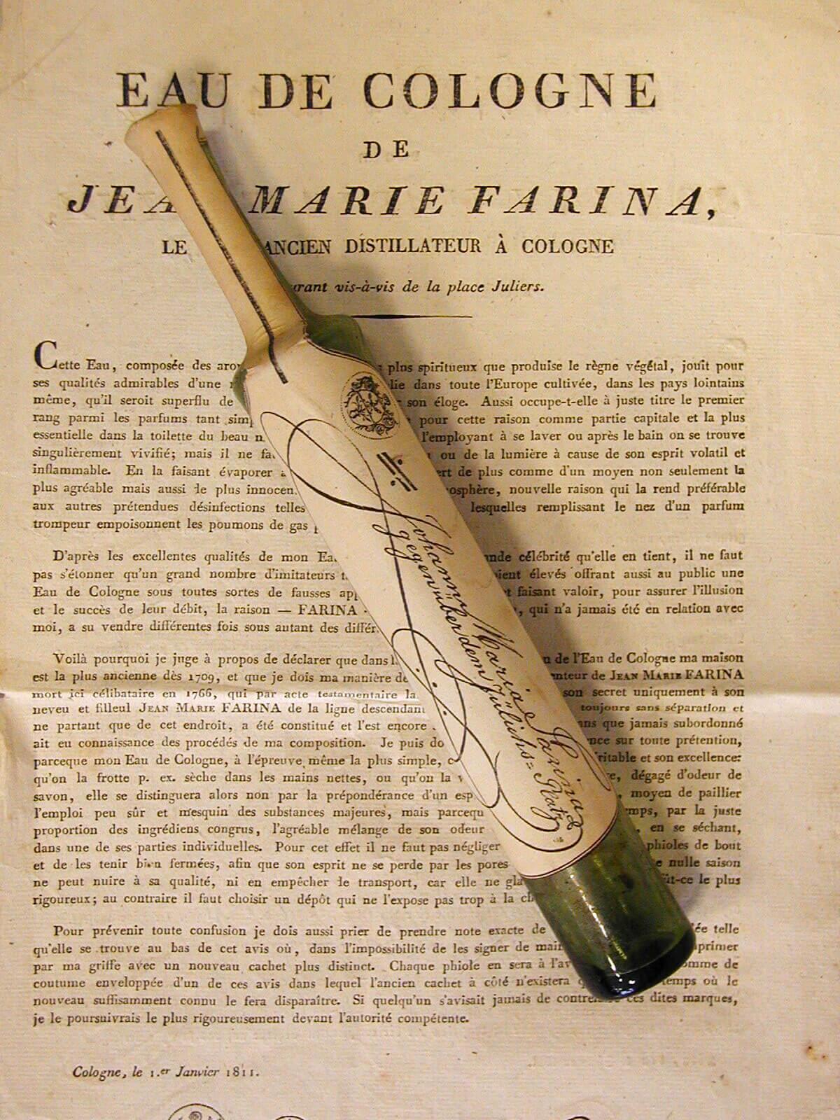 Одеколон, флакон 1811 года.