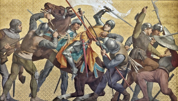 Жанну д'Арк схватили бургундцы.