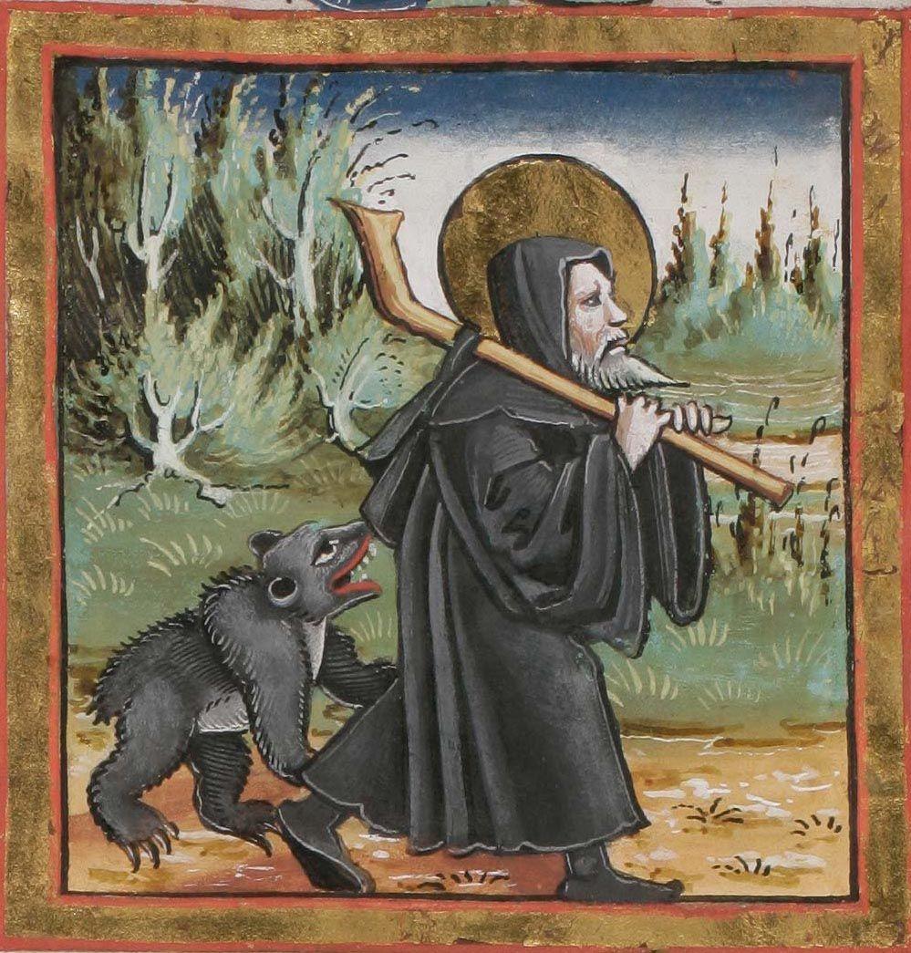 Святой Галл с медведем.