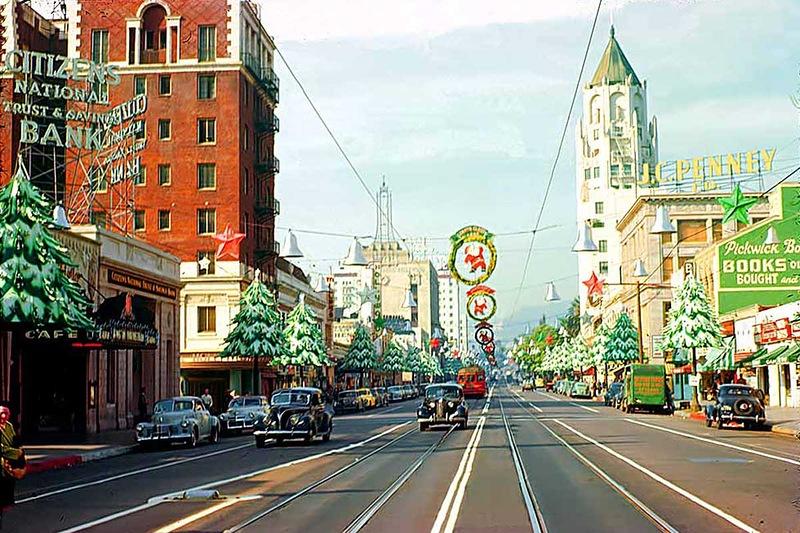 Бульвар Голливуд на Рождество 1946 г..jpg