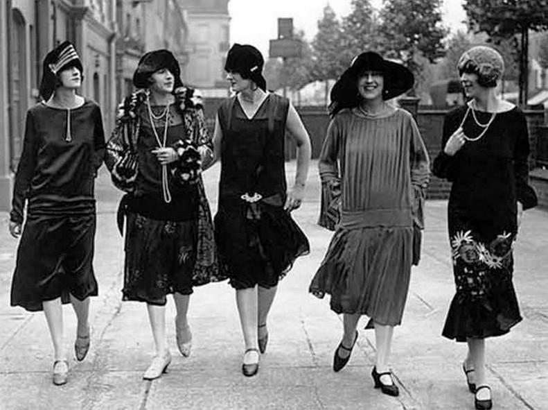Женская мода 1920-х годов.