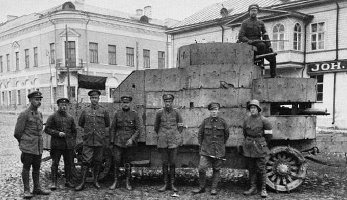 Эстонские солдаты. Нарва, 1919. <br>