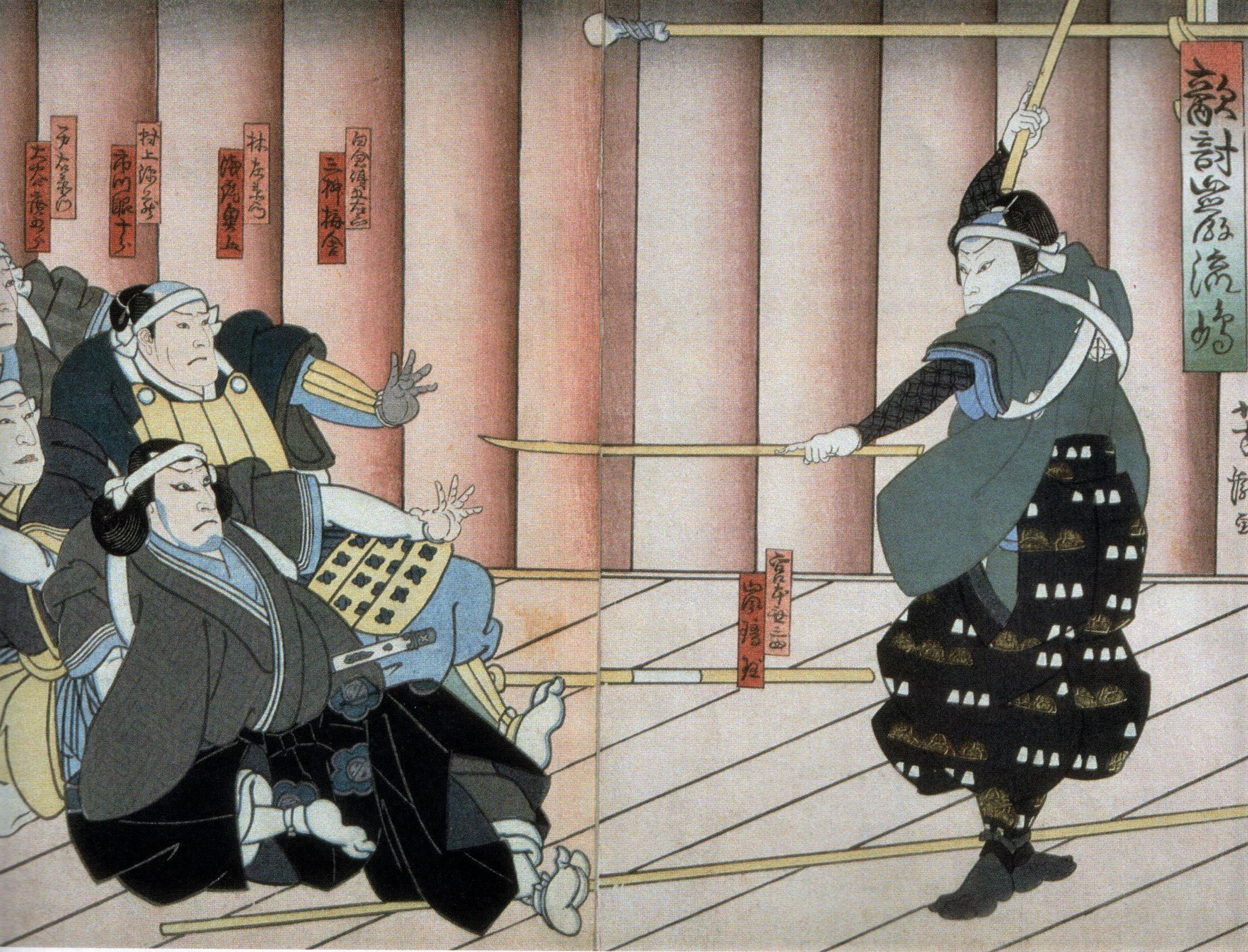 Мусаси наводит ужас на врагов.  Источник: ru.wikipedia.org