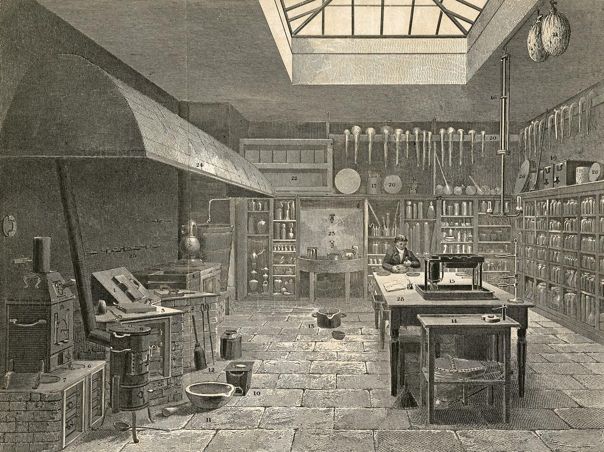 Химическая лаборатория XIX века.
