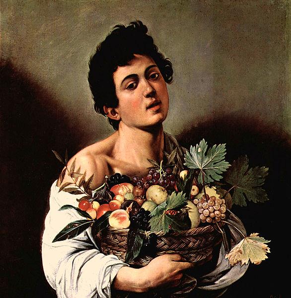 Караваджо «Мальчик с корзиной фруктов» (1593)