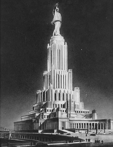 Главный фасад Дворца Советов.