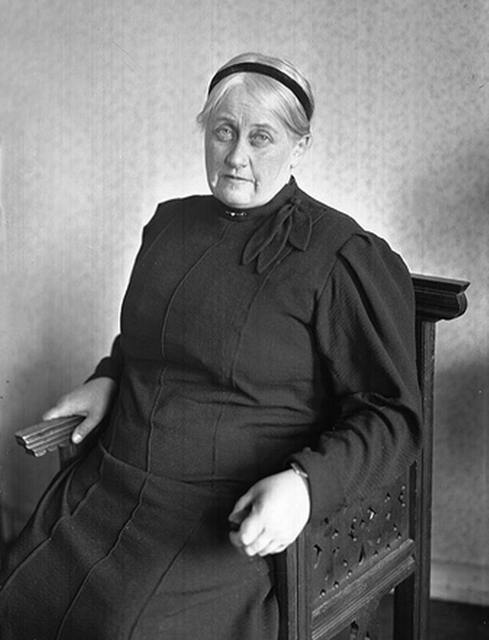 Анна Вырубова в январе 1957 года.  Источник: wikipedia.org