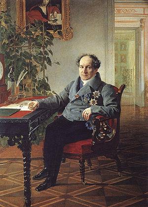 А. Н. Голицын. Портрет работы К. Брюллова. <br>