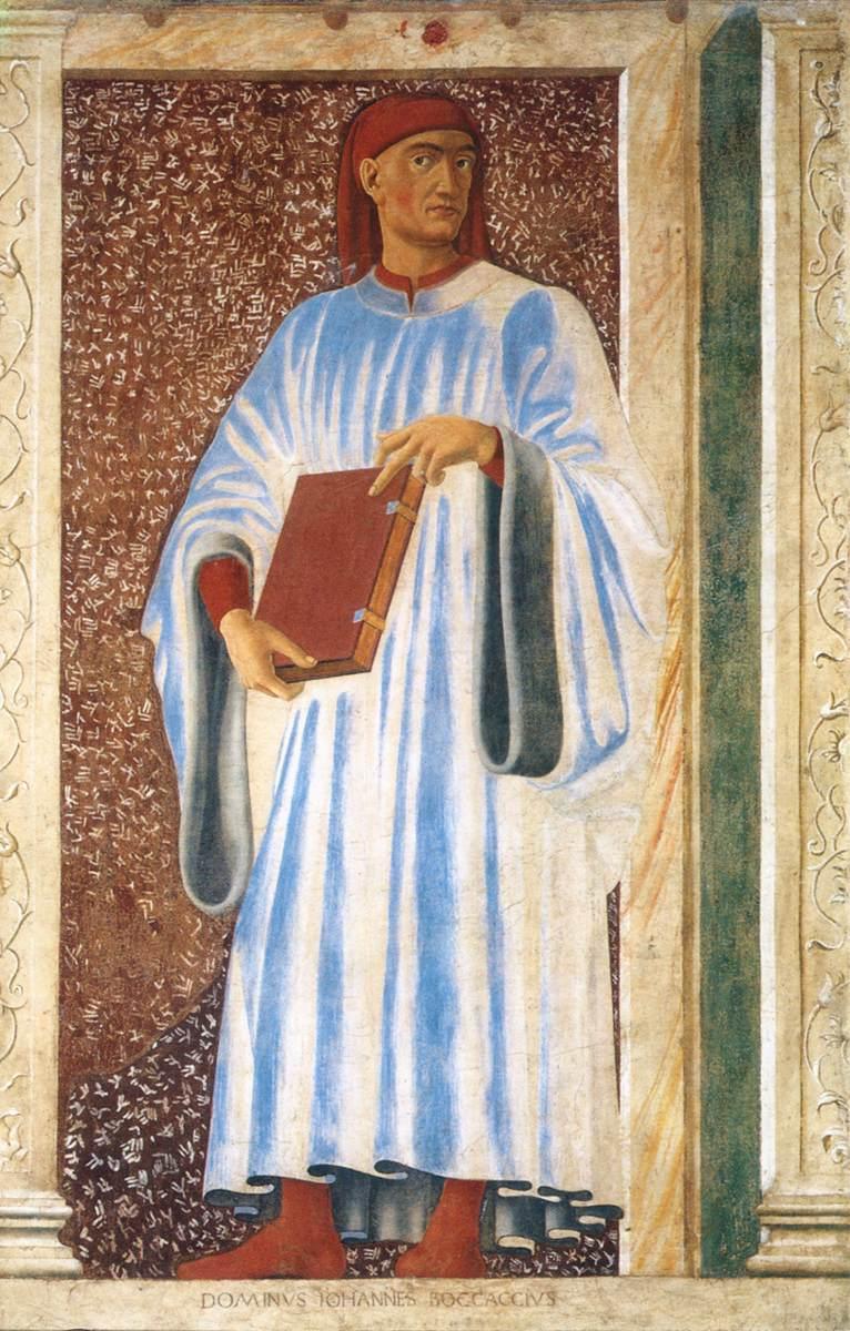Андреа дель Кастаньо «Портрет Джованни Боккаччо», 1450 год. <br>