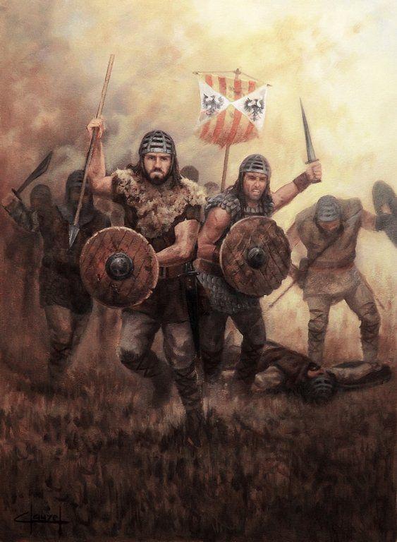 Альмогавары в бою.