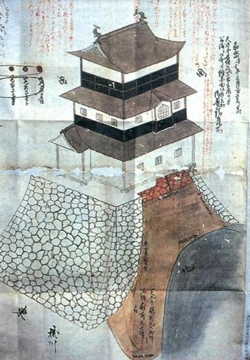 Схема башни Какэгавэ.