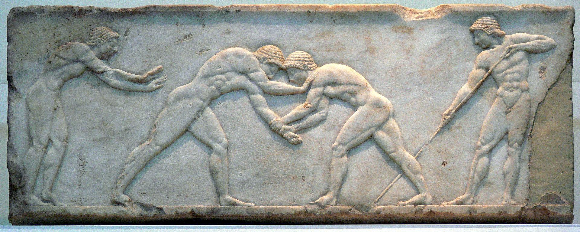 Древнегреческие борцы.