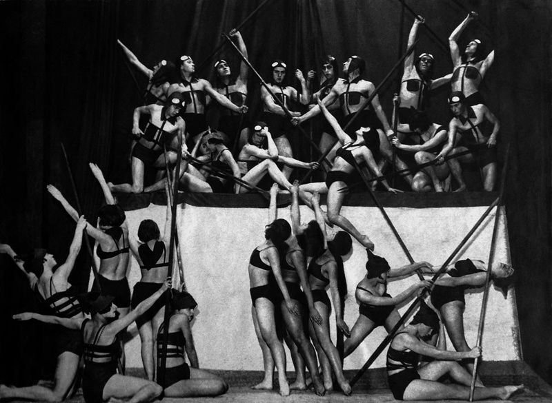 Труппа пластического танца, 1920-е.