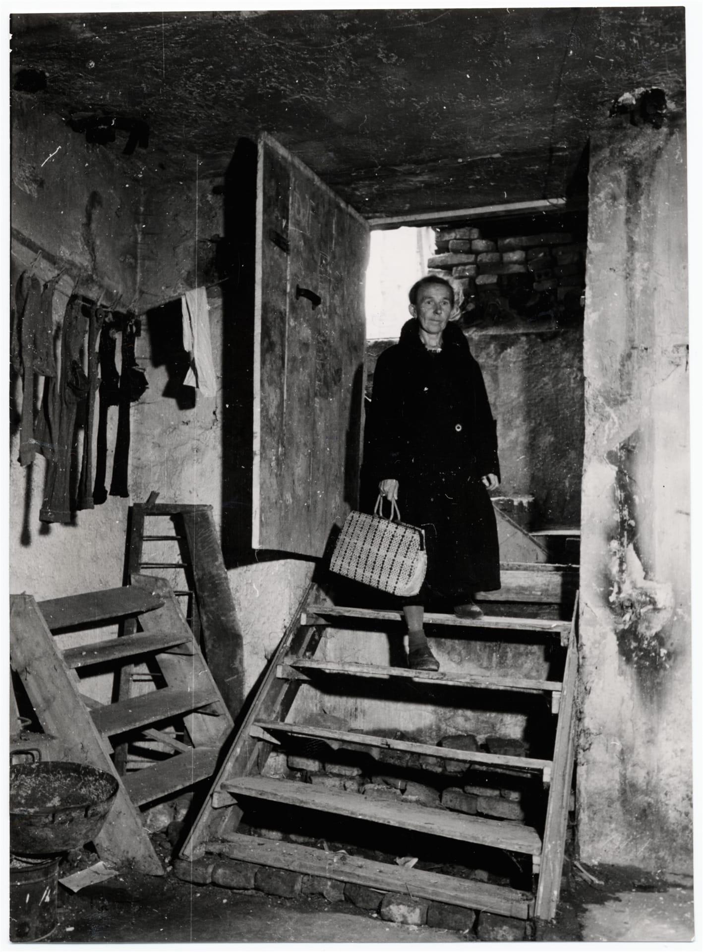Беженка вернулась домой в Мюнхен, 1946.  Источник: МККК, фотограф — Вальтер Брунне