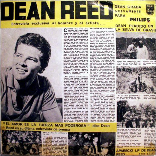 Обложка пластинки Дина Рида 1962 года. <br>