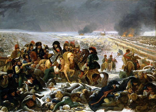 Наполеон на поле битвы при Прейсиш-Эйлау.