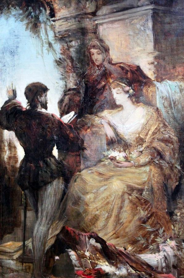 Ганс Макарт. Тассо и Леонора д'Эсте, 1869.