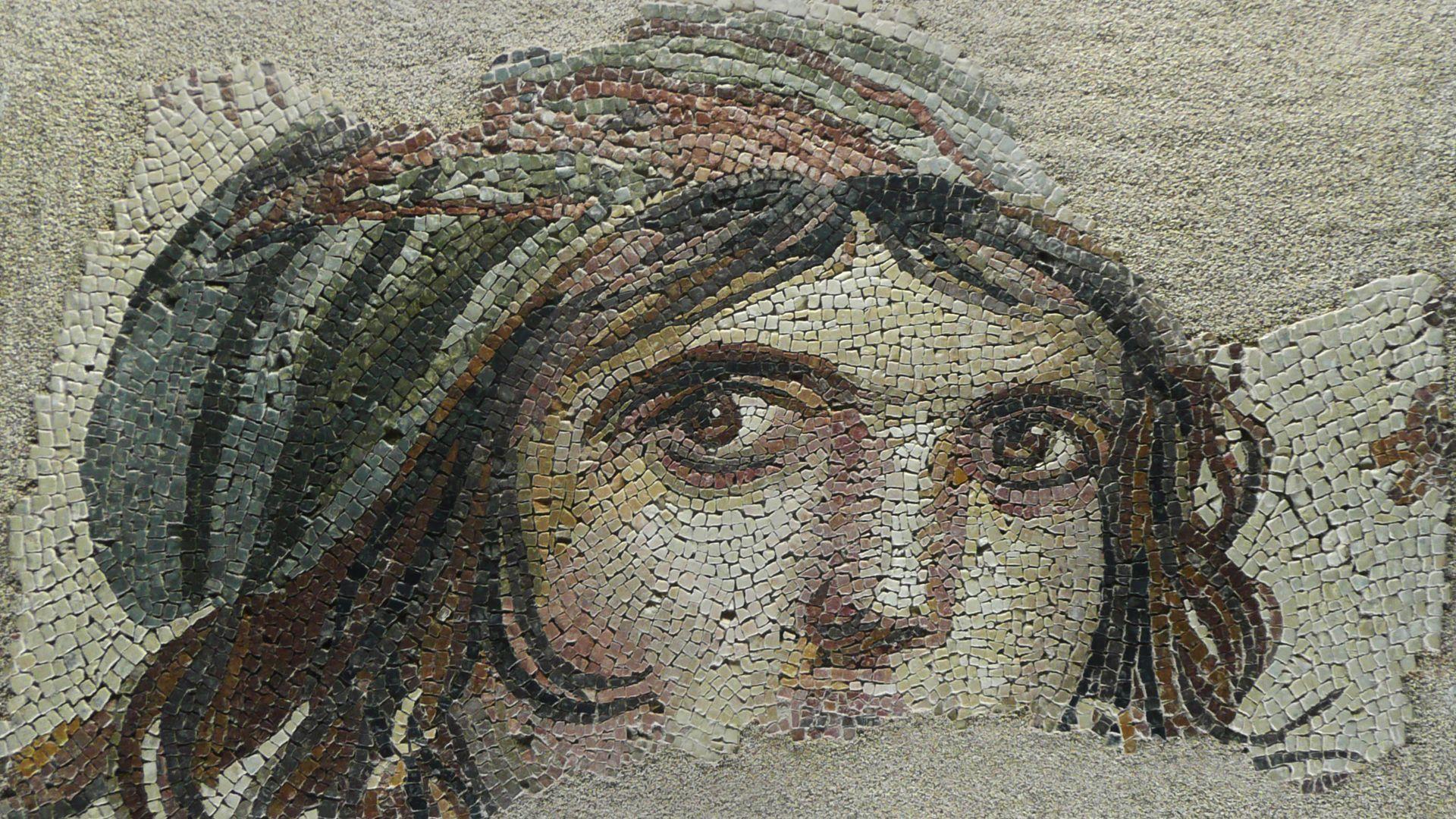 Цыганская девушка. Фреска из города Газиантепа.