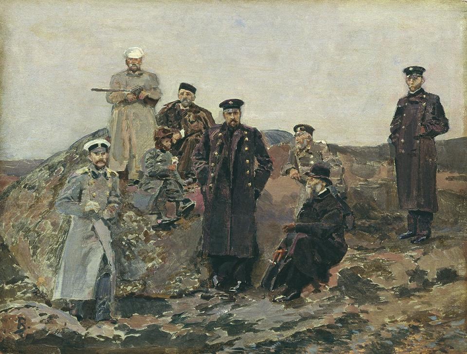 Мамонтов и Витте среди инженеров-путейцев.  Источник: wikimedia.com