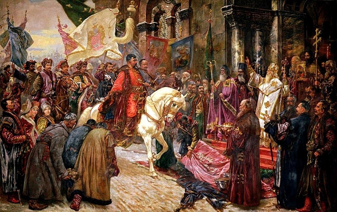 Въезд Богдана Хмельницкого в Киев. Картина Николая Ивасюка, конец XIX века.jpg